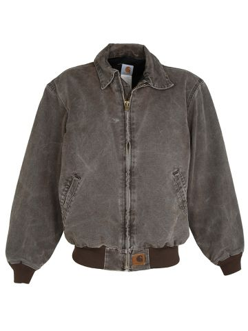 Brown Carhartt Duck Canvas Chore Jacket - L