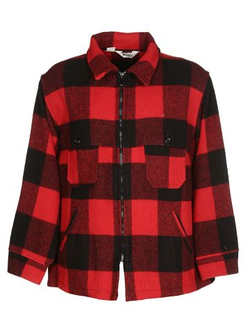 80s Woolrich Red & Black Checked Jacket - L
