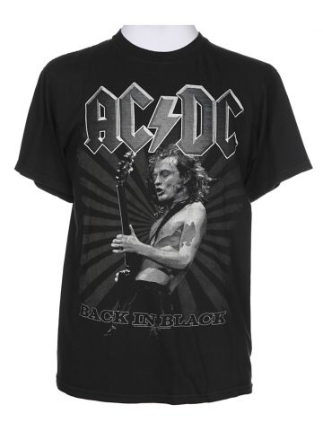 AC/DC Black Band Short Sleeved T-Shirt - M