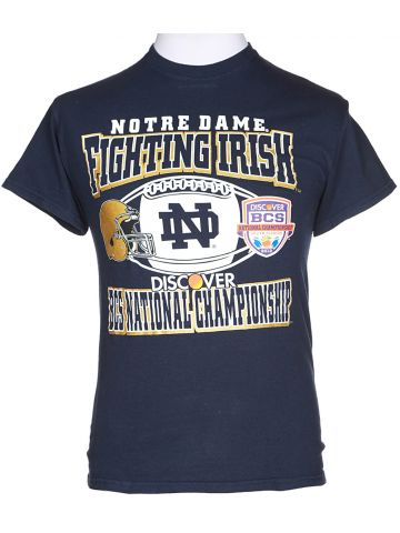 Notre Dame American Football Blue T-Shirt - S