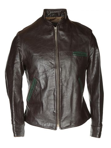 40s Brown Horsehide Leather Jacket - S