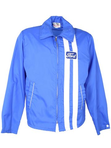 1970s Blue Ford Zip Up Jacket - L