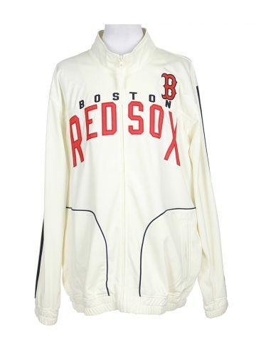 Boston Red Sox Cream Zip Up Track Jacket - XL