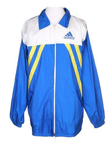 90s Adidas Blue Shell Jacket - L