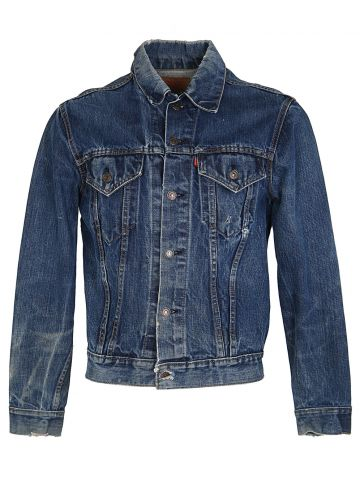 Vintage 70s Levi's Customised Big E Denim Trucker Jacket - M