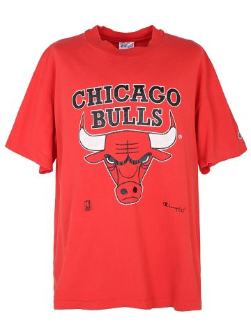 90s Red Official NBA Champion Chicago Bulls T Shirt - L