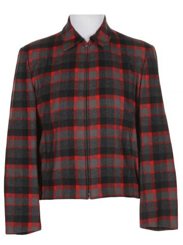 Rare Vintage 50s Deadstock checked Zipped Pendleton Wool Jacket - M