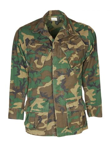 70s Green Camouflage Jungle Jacket - XS
