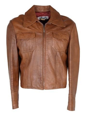 Vintage 70s Fred Asher Leather Jacket - M