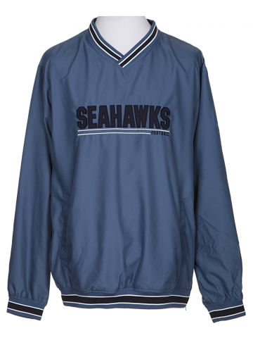 Seattle Seahawks Blue Coach Pullover - L
