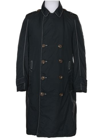 Diesel Black Mac Coat Raincoat - S